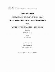Research Proposal Title Page How To Write Business