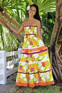 vahine en robe tahitienne elise creations de tahiti With robe traditionnelle tahitienne