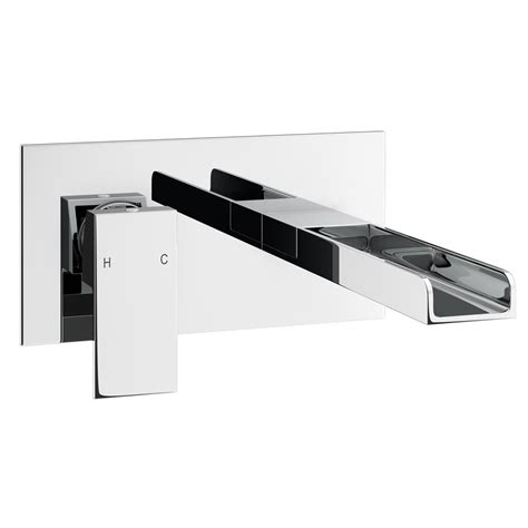 Bathroom Shower Room Ideas by Plaza Waterfall Wall Mounted Basin Mixer At Victorian