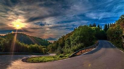 4k Sunset Road Wallpapersafari Serpentine