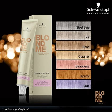 schwarzkopf professional blond  blonde toning shades