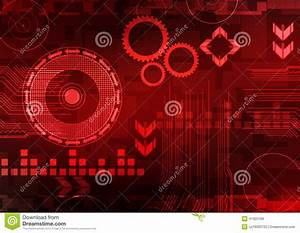 Abstract Technology Background Red Stock Illustration ...