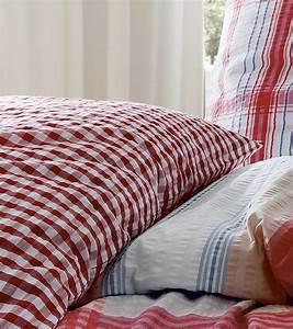 Bettwäsche Rot Weiß : hochwertige bettw sche und tischdecken rio karo seersucker bettw sche von fleuresse rot ~ Yasmunasinghe.com Haus und Dekorationen