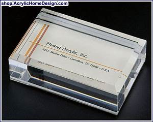 Acrylic business card paper weights for Paper weight for business cards