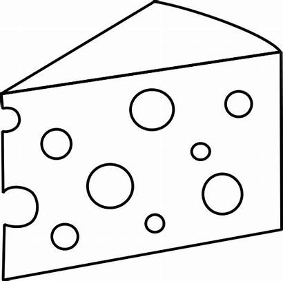 Cheese Clipart Slice Swiss Coloring Drawing Clip