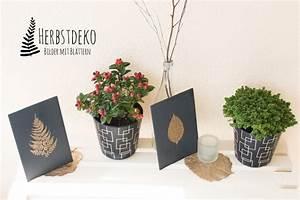 Abtreter Für Draußen : diy herbstdeko f r drau en holztafeln mit goldenen bl ttern handmade kultur ~ Orissabook.com Haus und Dekorationen