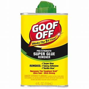 goof off 4 oz super glue remover fg677 the home depot With best brand of paint for kitchen cabinets with how to remove stickers from car window