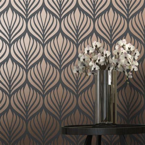 love wallpaper shimmer desire wallpaper charcoal copper