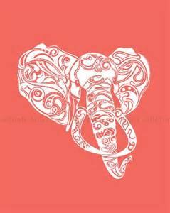 Abstract Elephant Tattoo