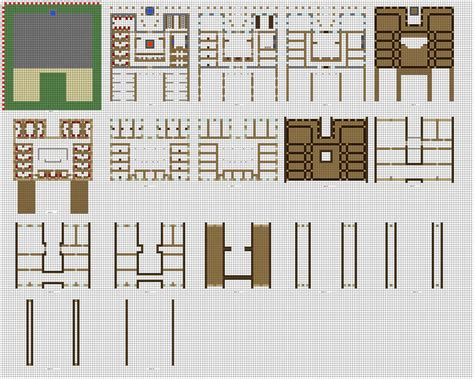 Epicsoren's Minecraft-specific Floor Plans