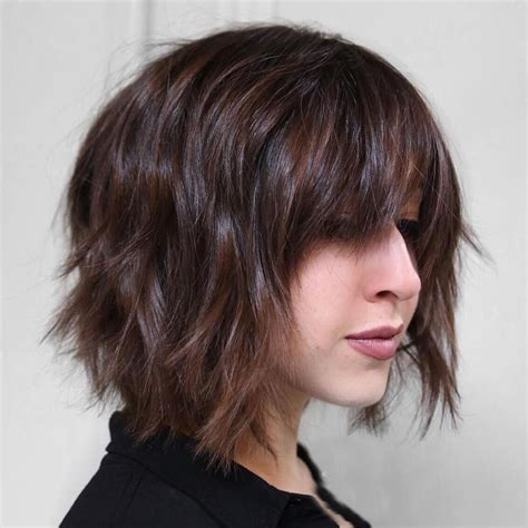 short bob haircuts  bangs  layered bob