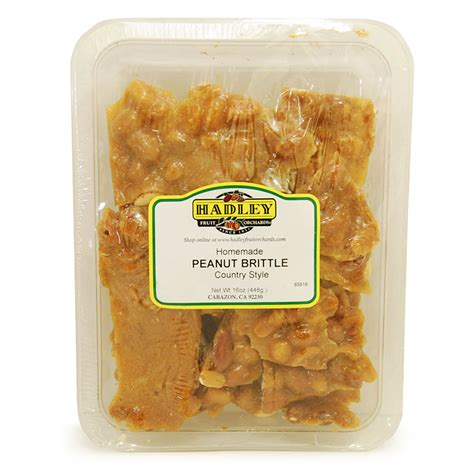 Homemade Peanut Brittle Country Style 12oz  Hadley Fruit