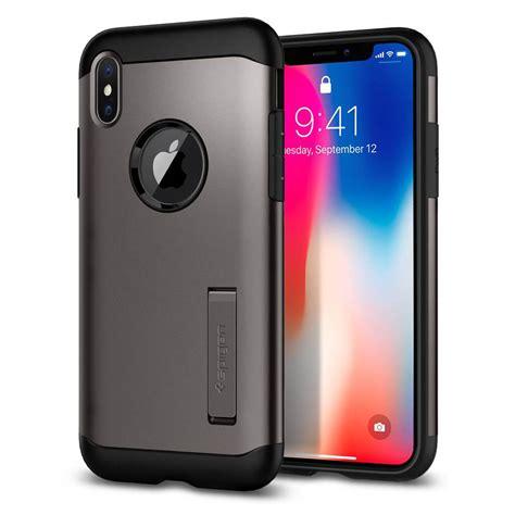 iphone x casing iphone x spigen slim armor 057cs22135 iphone x gunmetal