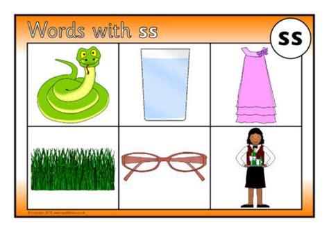 Words With Ss Bingo (sb9906) Sparklebox