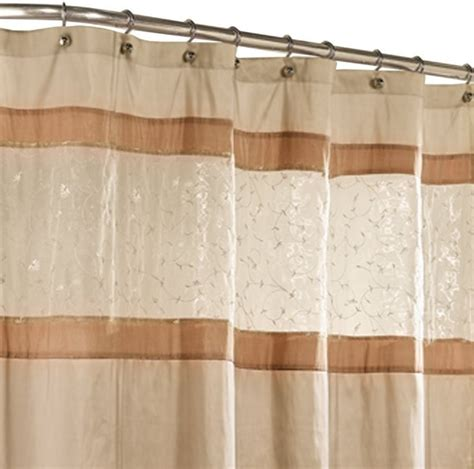 buena vista fabric shower curtain beige traditional