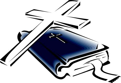Bible Clip Cross And Bible Clipart Clipart Suggest
