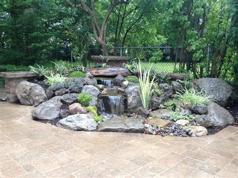 pondless waterfalls water feature landscape design with
