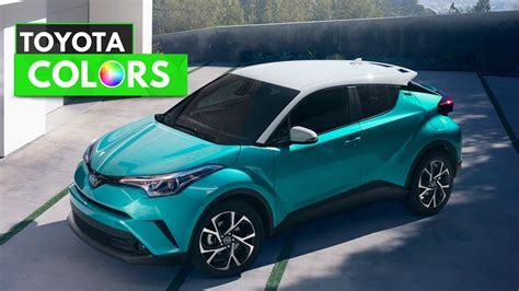 Toyota Colors 2018 toyota chr colors