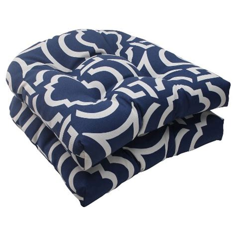 target indoor outdoor chair cushions outdoor 2 wicker seat cushion set blue w target