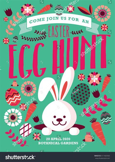 egg template illustration easter egg hunt template vectorillustration stock vector