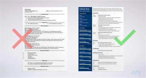 sales representative resume sample writing guide
