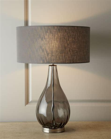 smoky gray glass table lamp