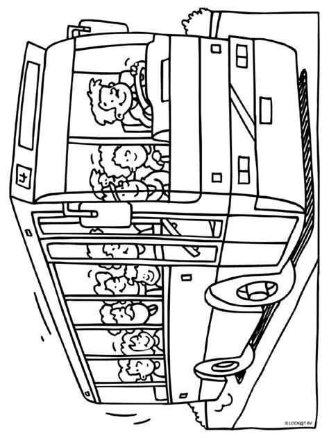 Kleurplaat Autobus by Kleurplaat Touringcar Vakantie Kleurplaten Nl