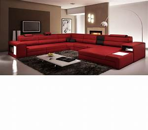 Italian leather sectional sofa in dark red s3net for Dark red leather sectional sofa