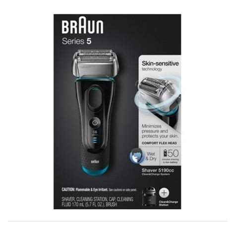 braun series mens rechargeable electric shaver cleaning station