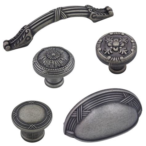 cabinets knobs or pulls cosmas weathered nickel cabinet hardware knobs handles