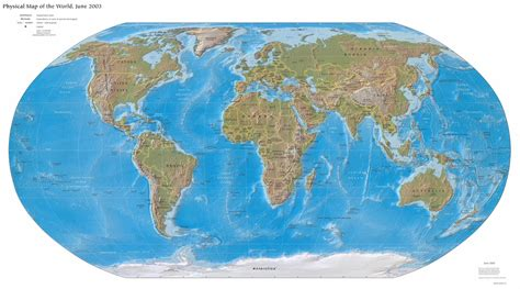 WORLD MAP PHYSICAL - MAP SHARING - All maps of the world ...