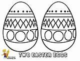 Easter Coloring Egg Pages Eggs Fun Colouring Fancy Basket Yescoloring Boys sketch template