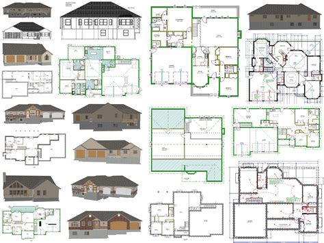 Cad House Plans  As Low As $1 Per Plan