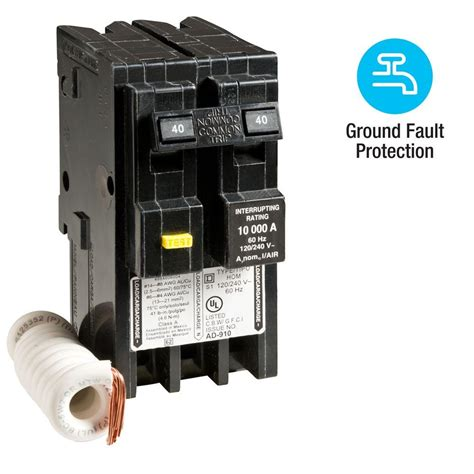 gfci circuit breaker square d homeline 40 amp 2 pole gfci circuit breaker hom240gfi the home depot