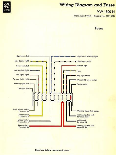 fuse wiring diagram thesamba com type 3 wiring diagrams