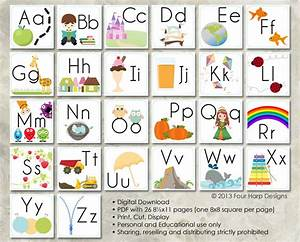 alphabet wall cards diy printable for preschool early With large alphabet letters for classroom wall