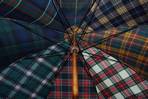 tartan plaid umbrella cotton canopy fabric samples