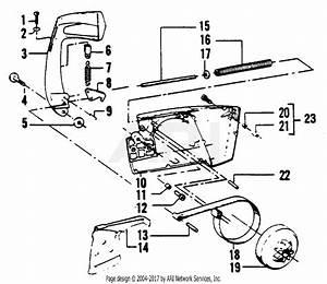 Poulan 4200 Gas Saw Parts Diagram For Chain Brake Assemblies