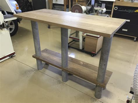 industrial outdoor teak high table modified