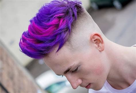 7 Funky Purple Hairstyles For Men 2020 Hairstylecamp