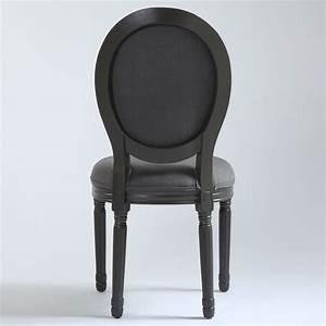 Chaise De Bar Grise : la chaise louis xvi grise vue de dos mobiliers le ~ Voncanada.com Idées de Décoration