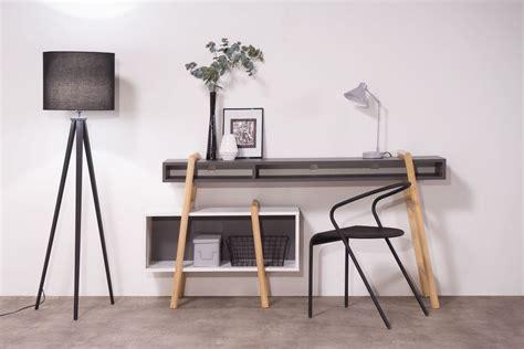 bureau sympa bureau design gris et blanc wood tang compo 3 miliboo