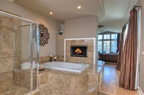 astonishing cozy bathrooms design ideas  fireplace