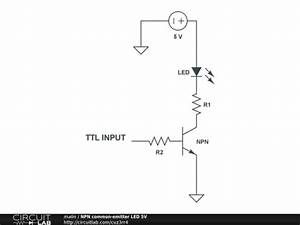 led - Transistor with different voltage in colector and ...