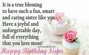 Best Birthday W... Cute Sister Bday Quotes