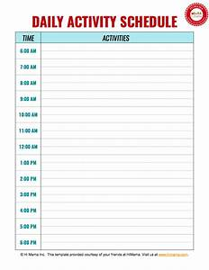 daycare daily schedule template daycare daily schedule With daily schedule template for students