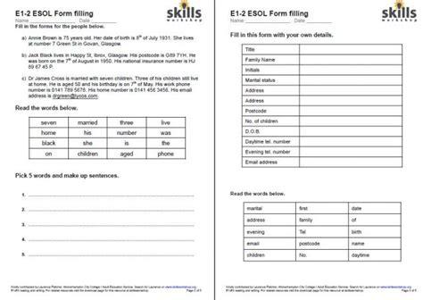 Form Filling  Skills Workshop