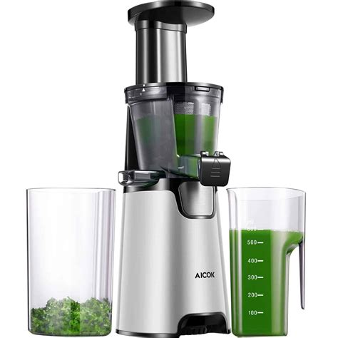 juicer masticating juicers slow aicok juice leafy auger greens nutrition smooth machine rated extractor amazon cold silver reverse vertical press