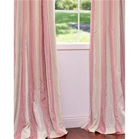 exclusive fabrics light pink stripe faux silk