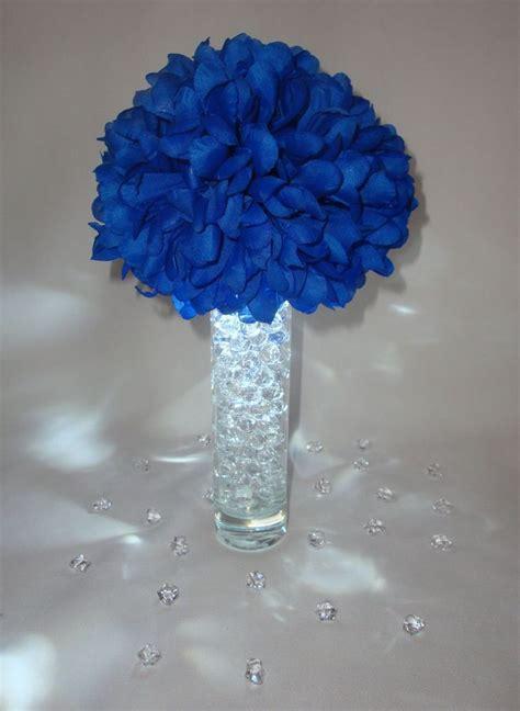 blue led wedding flower centerpieces w vases gel beads